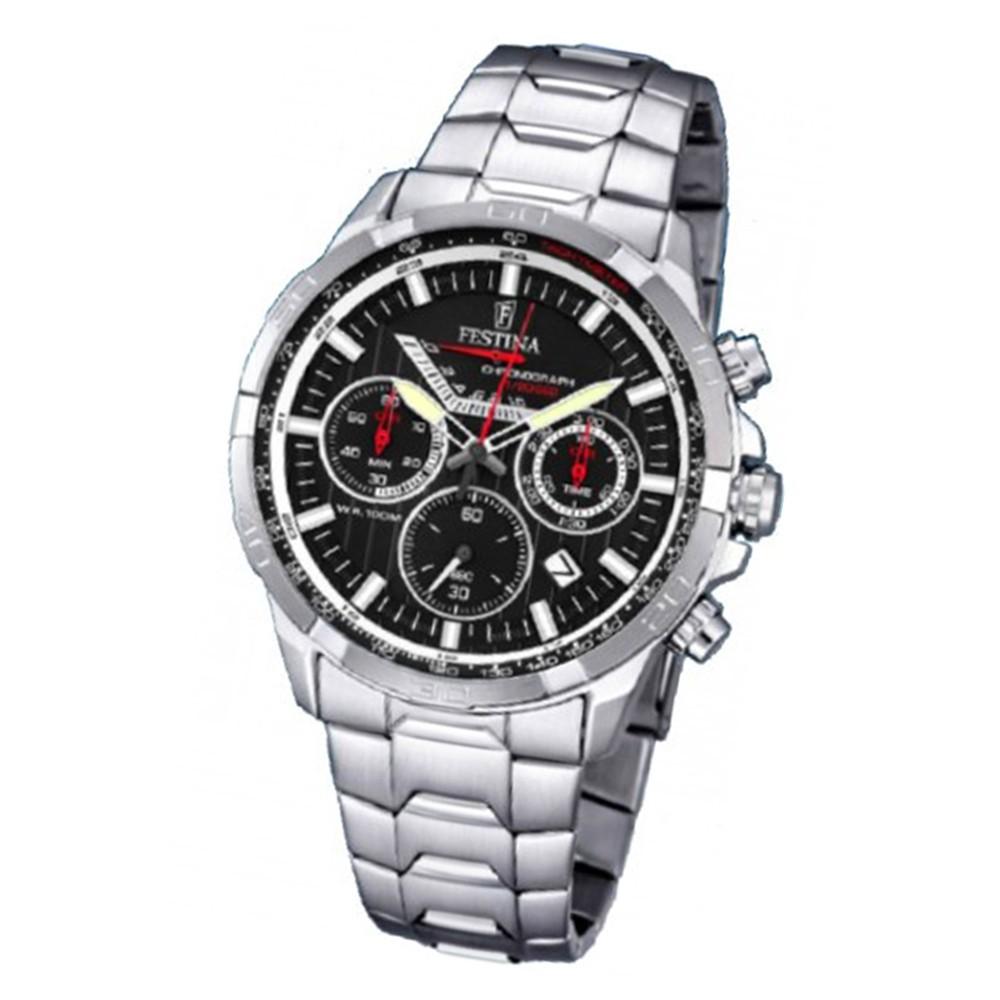 FESTINA Herren-Armbanduhr Chronograph Quarz Edelstahl silber UF6836/4