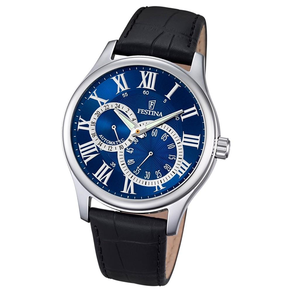 FESTINA Herren-Armbanduhr Automatik F6848/2 Leder schwarz UF6848/2