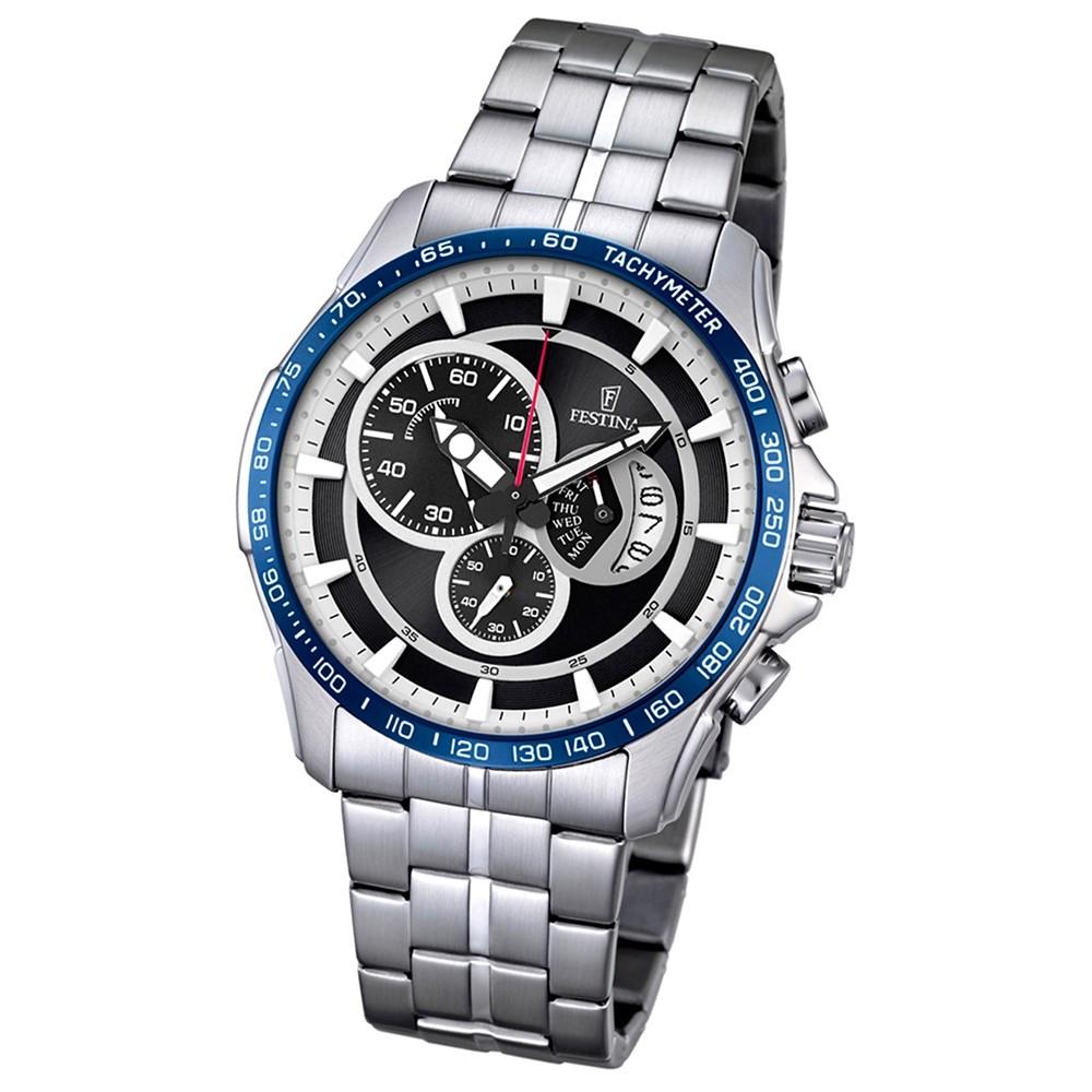 FESTINA Herren-Armbanduhr Chronograph Sport F6850/1 Quarz Edelstahl UF6850/1