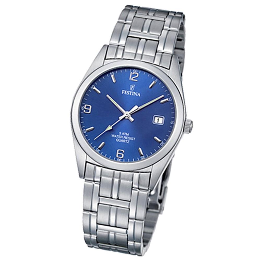FESTINA Herren-Armbanduhr analog Klassik Quarz Edelstahl UF8825/2