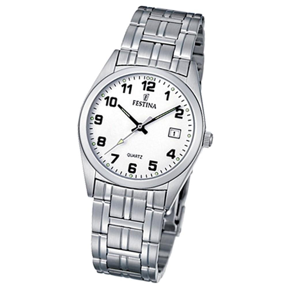 FESTINA Herren-Armbanduhr analog Klassik Quarz Edelstahl UF8825/4