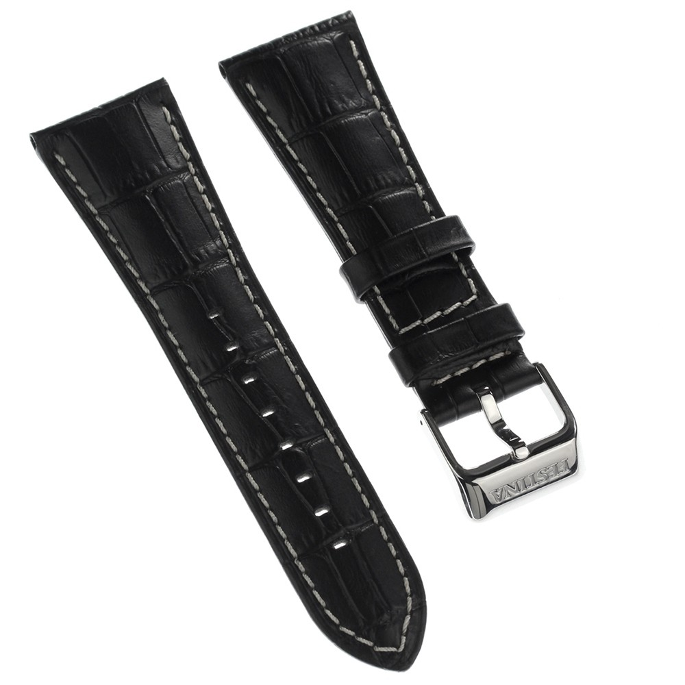 Festina Herren Uhrenarmband 28mm Leder-Band schwarz für Festina F16235 F16234 UFA16235/S