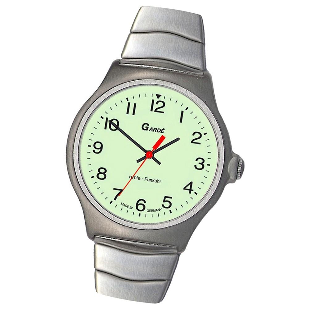 GARDE Herren-Uhr Funkuhr FU 23-76M Edelstahl-Armbanduhr UGA023076M