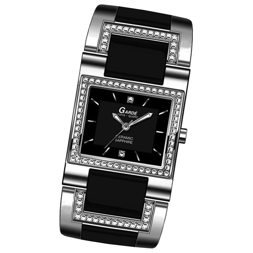 GARDE Damen-Uhr Quarzuhr Elegance 21949 Edelstahl Keramik-Armbanduhr UGA21949