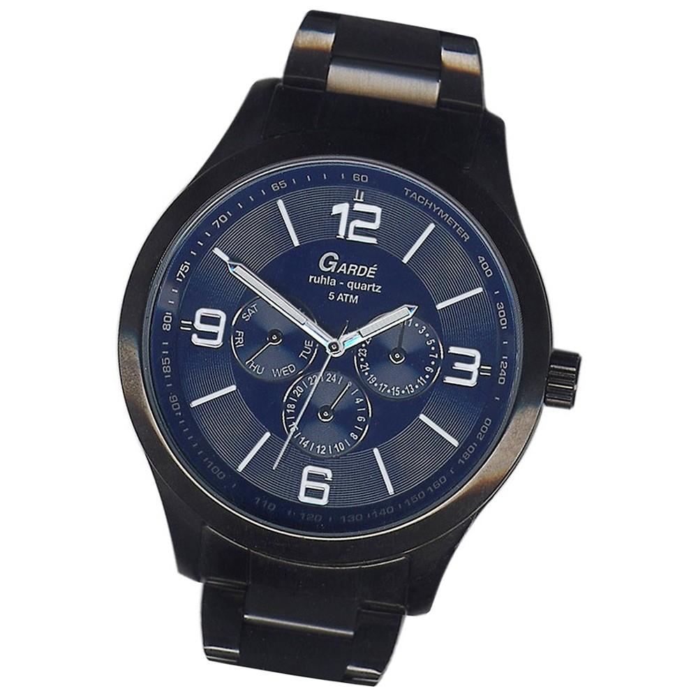 GARDE Herren-Uhr Quarzuhr Sport 22422 Edelstahl-Armbanduhr UGA22422
