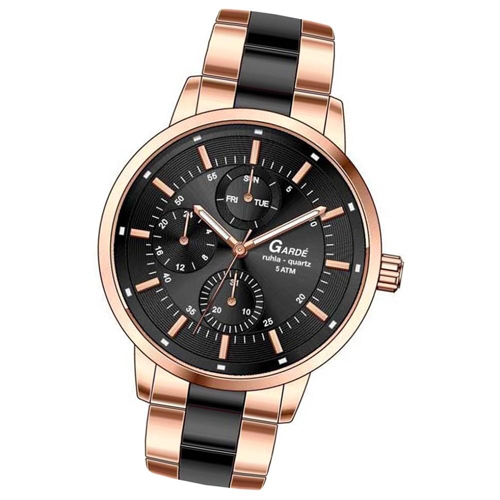 GARDE Damen-Armbanduhr Quarzuhr Elegance 22841 Edelstahlarmband Uhr UGA22841
