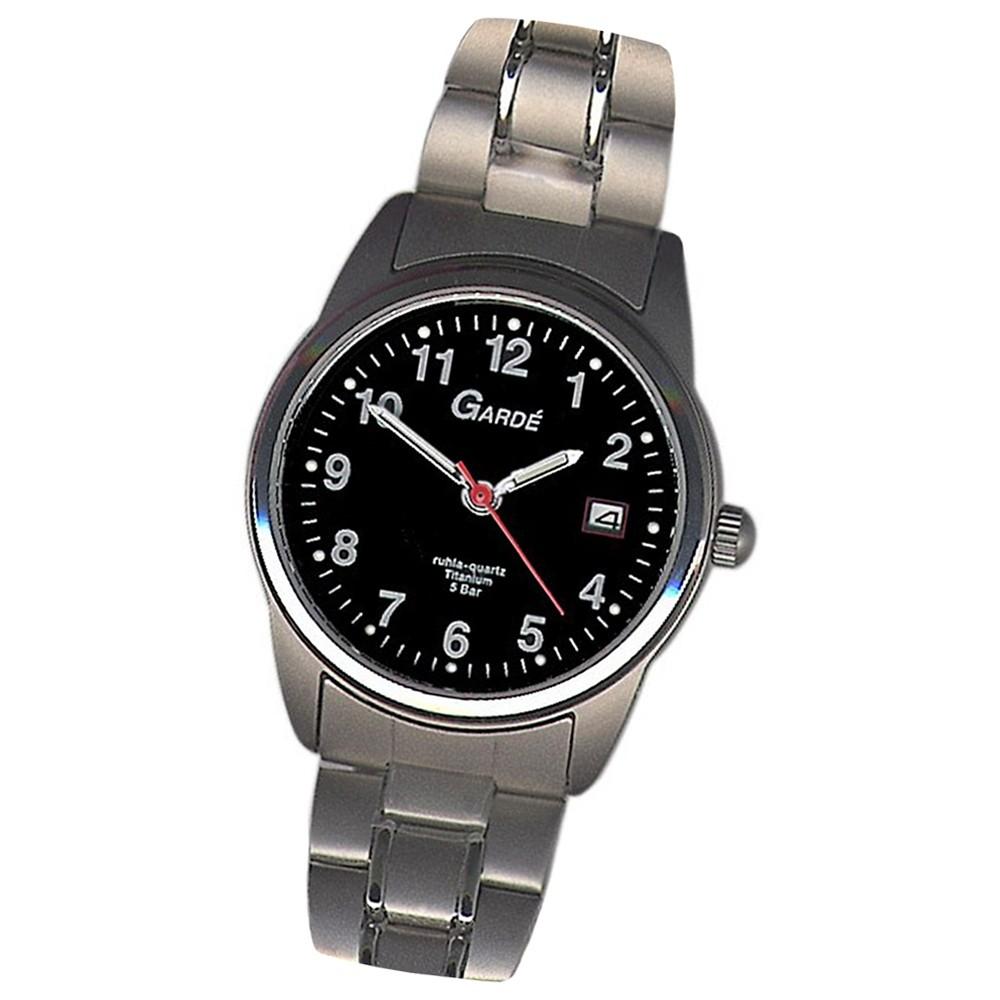 GARDE Damen-Uhr Quarzuhr Elegance 7170-6 Titan-Armbanduhr UGA71706