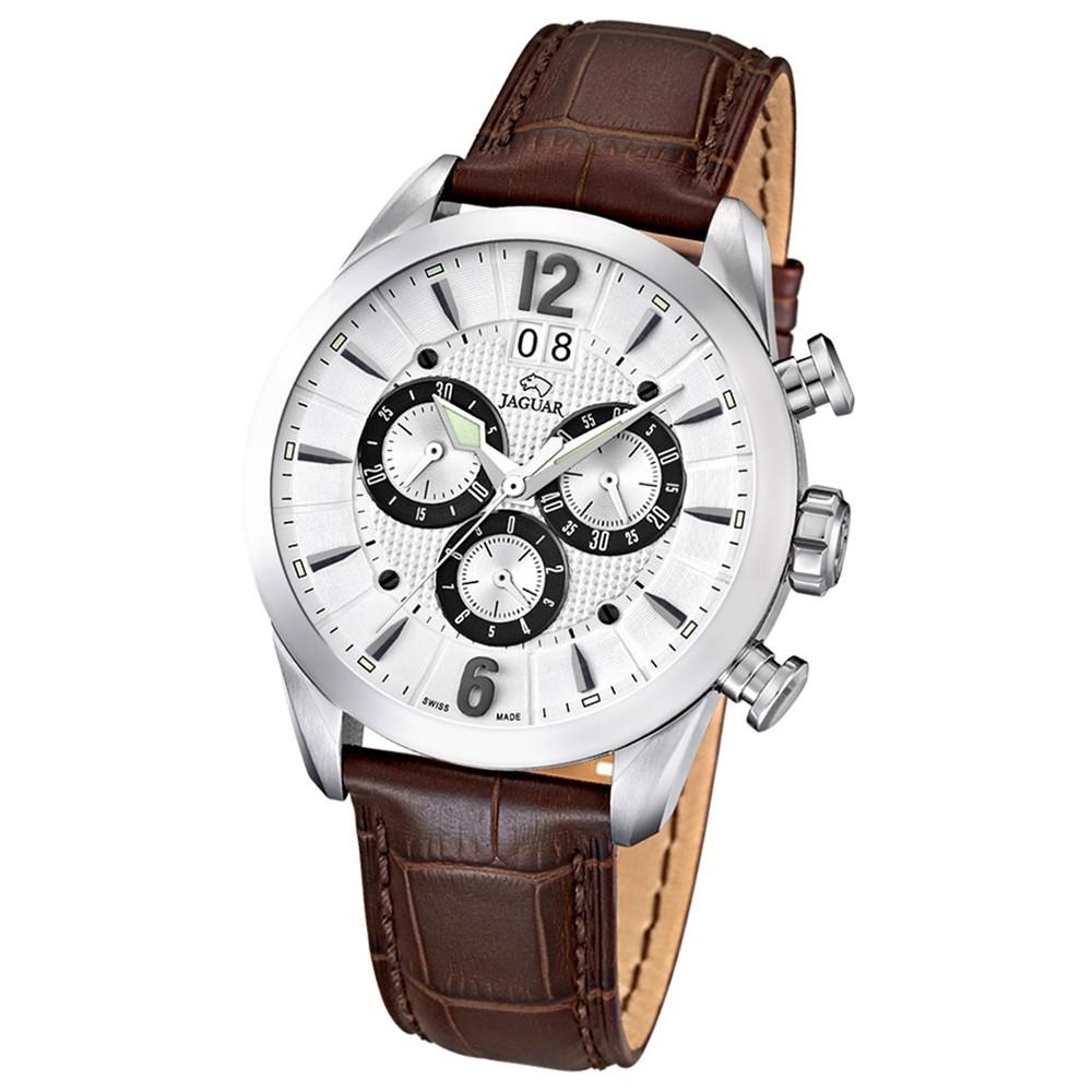 JAGUAR Herren-Armbanduhr ACM Saphirglas Quarz Leder braun UJ661/1