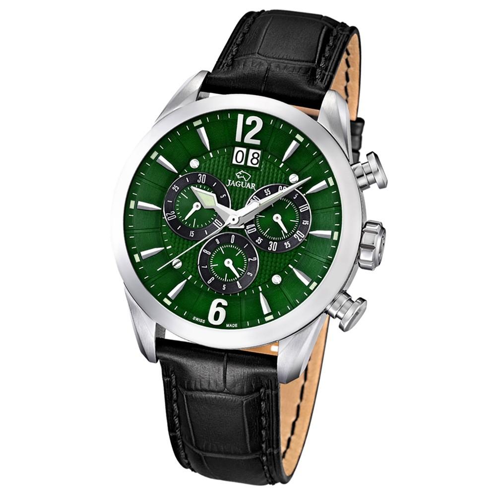 JAGUAR Herren-Armbanduhr ACM Saphirglas Quarz Leder schwarz UJ661/3