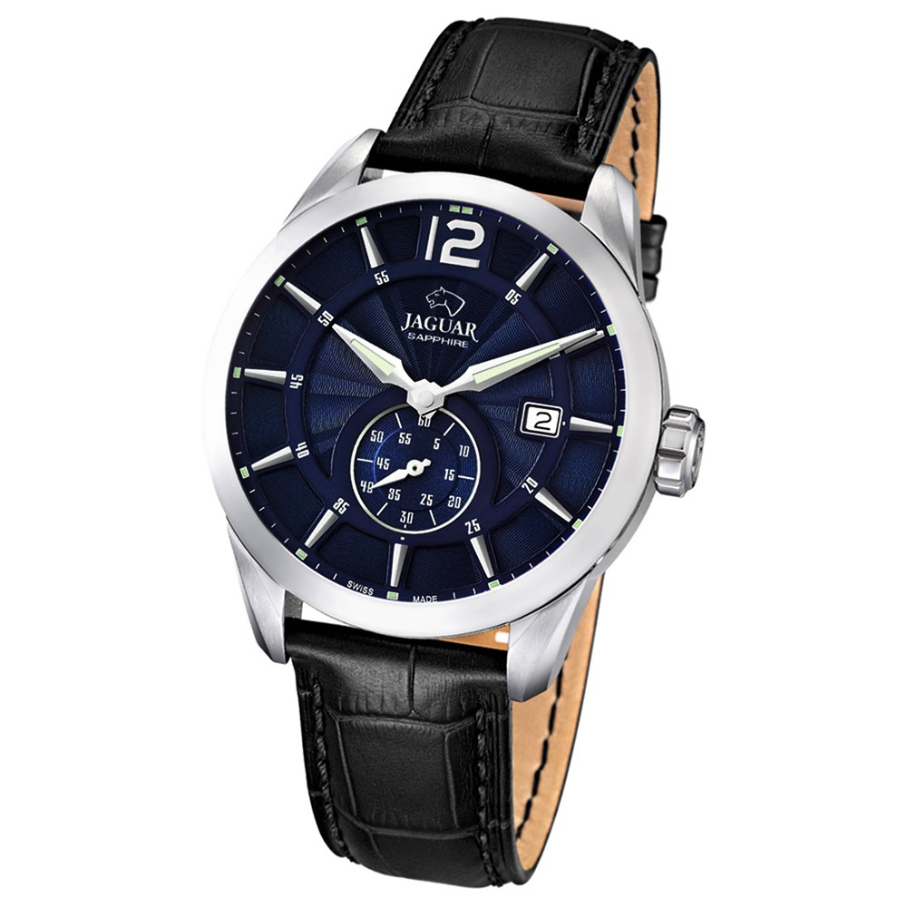 JAGUAR Herren-Armbanduhr ACM Saphirglas Quarz Leder schwarz UJ663/2