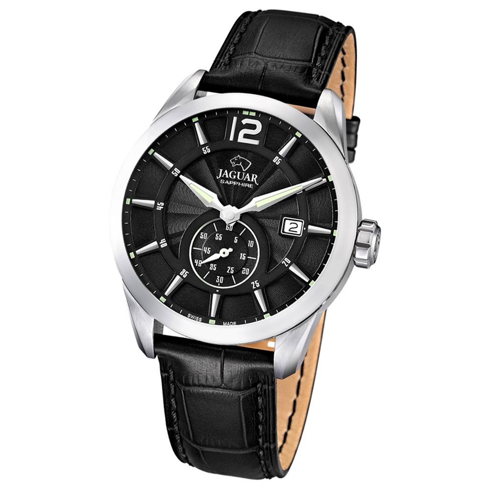 JAGUAR Herren-Armbanduhr ACM Saphirglas Quarz Leder schwarz UJ663/4
