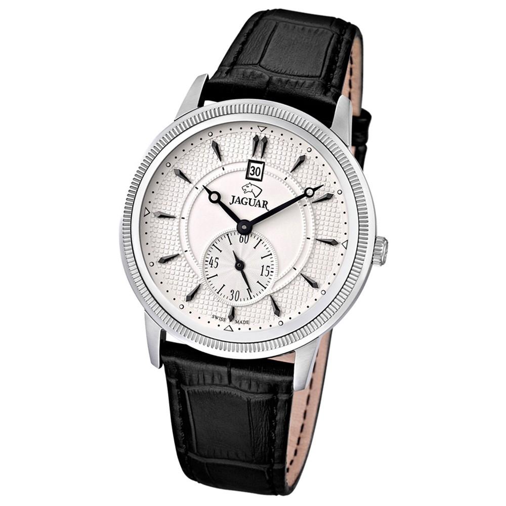 JAGUAR Herren-Armbanduhr ACM Saphirglas Quarz Leder schwarz UJ664/1