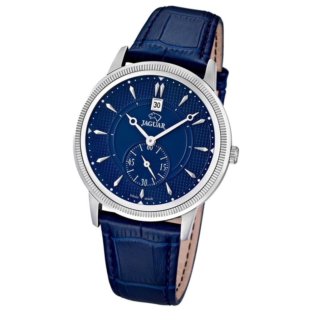 JAGUAR Herren-Armbanduhr ACM Saphirglas Quarz Leder dunkelblau UJ664/2
