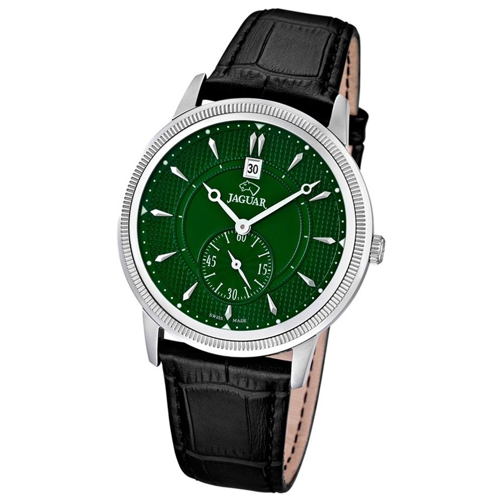 JAGUAR Herren-Armbanduhr ACM Saphirglas Quarz Leder schwarz UJ664/3