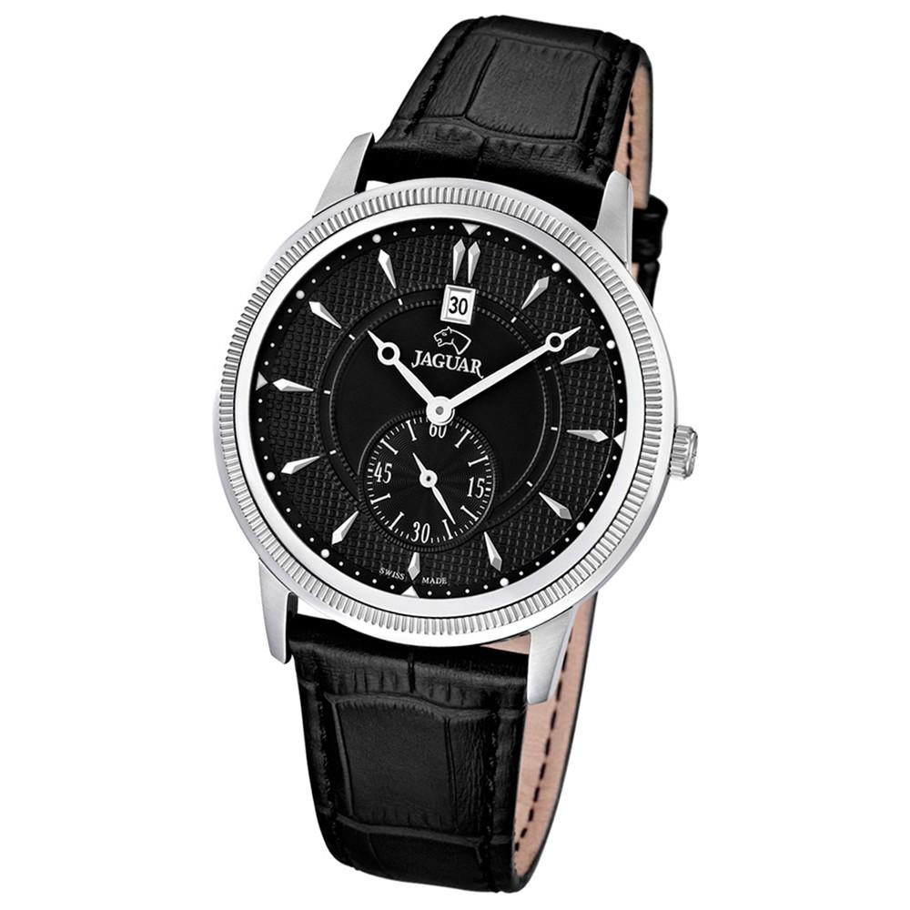 JAGUAR Herren-Armbanduhr ACM Saphirglas Quarz Leder schwarz UJ664/4