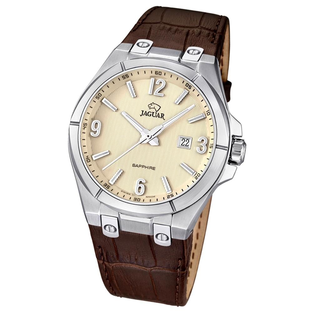 JAGUAR Herren-Armbanduhr Daily Classic Saphirglas Quarz Leder braun UJ666/1