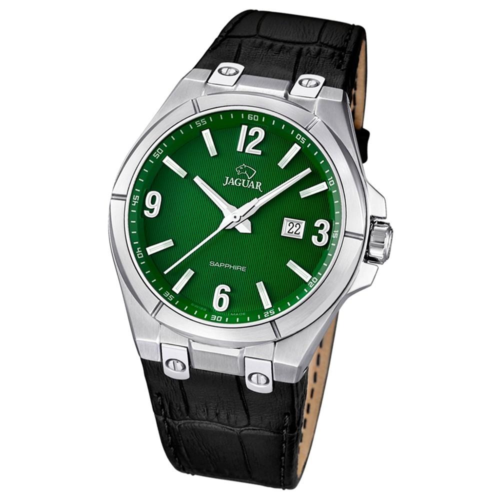 JAGUAR Herren-Armbanduhr Daily Classic Saphirglas Quarz Leder schwarz UJ666/5