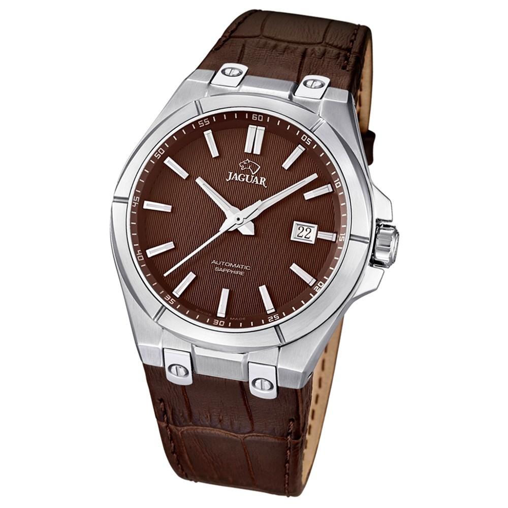 JAGUAR Herren-Armbanduhr Daily Classic Saphirglas Automatik Leder braun UJ670/2