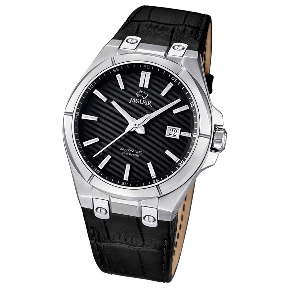 JAGUAR Herren-Armbanduhr Daily Classic Saphirglas Automatik Leder UJ670/3