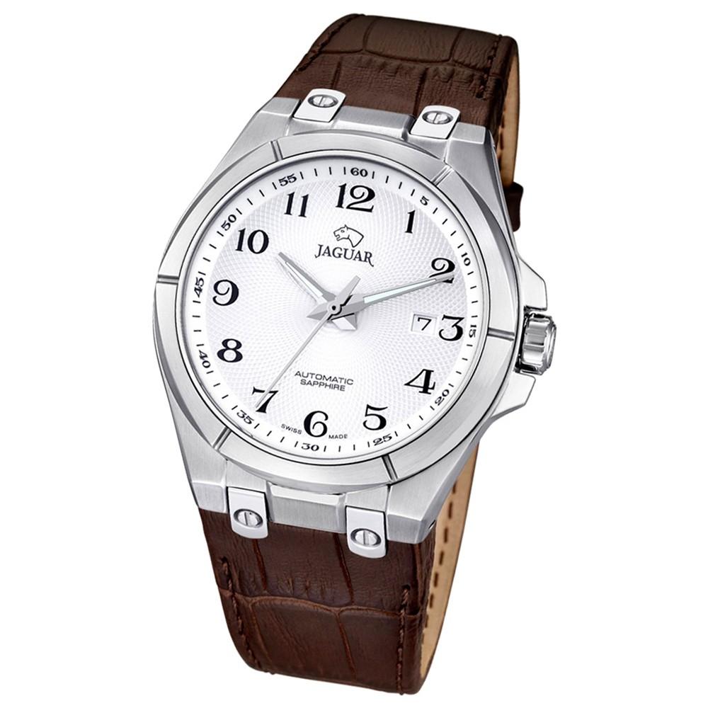 JAGUAR Herren-Armbanduhr Daily Classic Saphirglas Automatik Leder braun UJ670/5