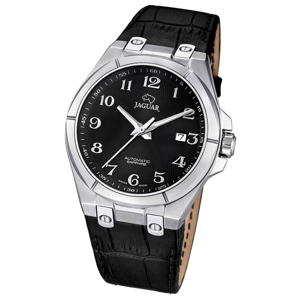 JAGUAR Herren-Armbanduhr Daily Classic Saphirglas Automatik Leder UJ670/6