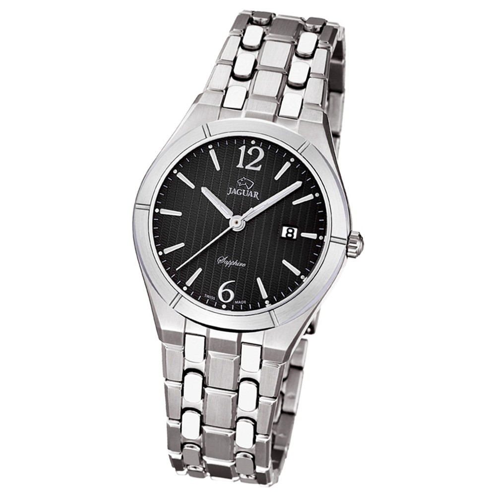 JAGUAR Damen-Armbanduhr Daily Classic Saphirglas Quarz Edelstahl silber UJ671/3