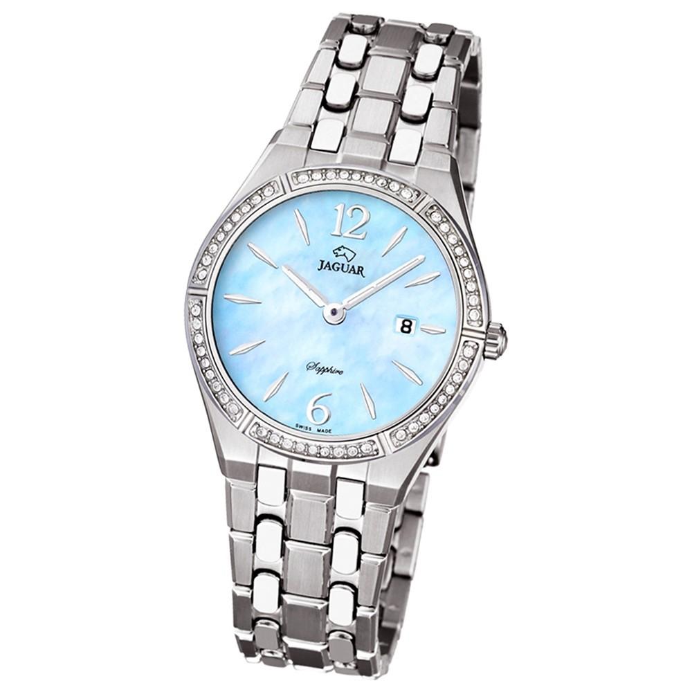 JAGUAR Damen-Armbanduhr Daily Classic Saphirglas Quarz Edelstahl silber UJ673/4
