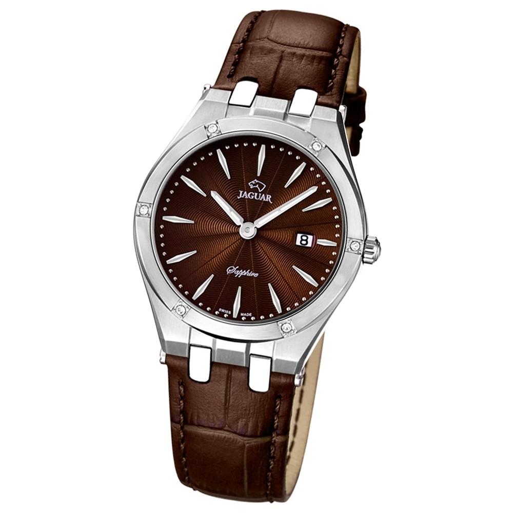 JAGUAR Damen-Armbanduhr Daily Classic Saphirglas Quarz Leder braun UJ674/2
