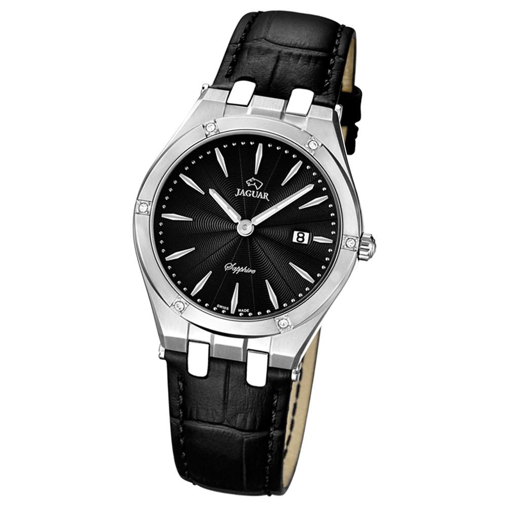 JAGUAR Damen-Armbanduhr Daily Classic Saphirglas Quarz Leder schwarz UJ674/3