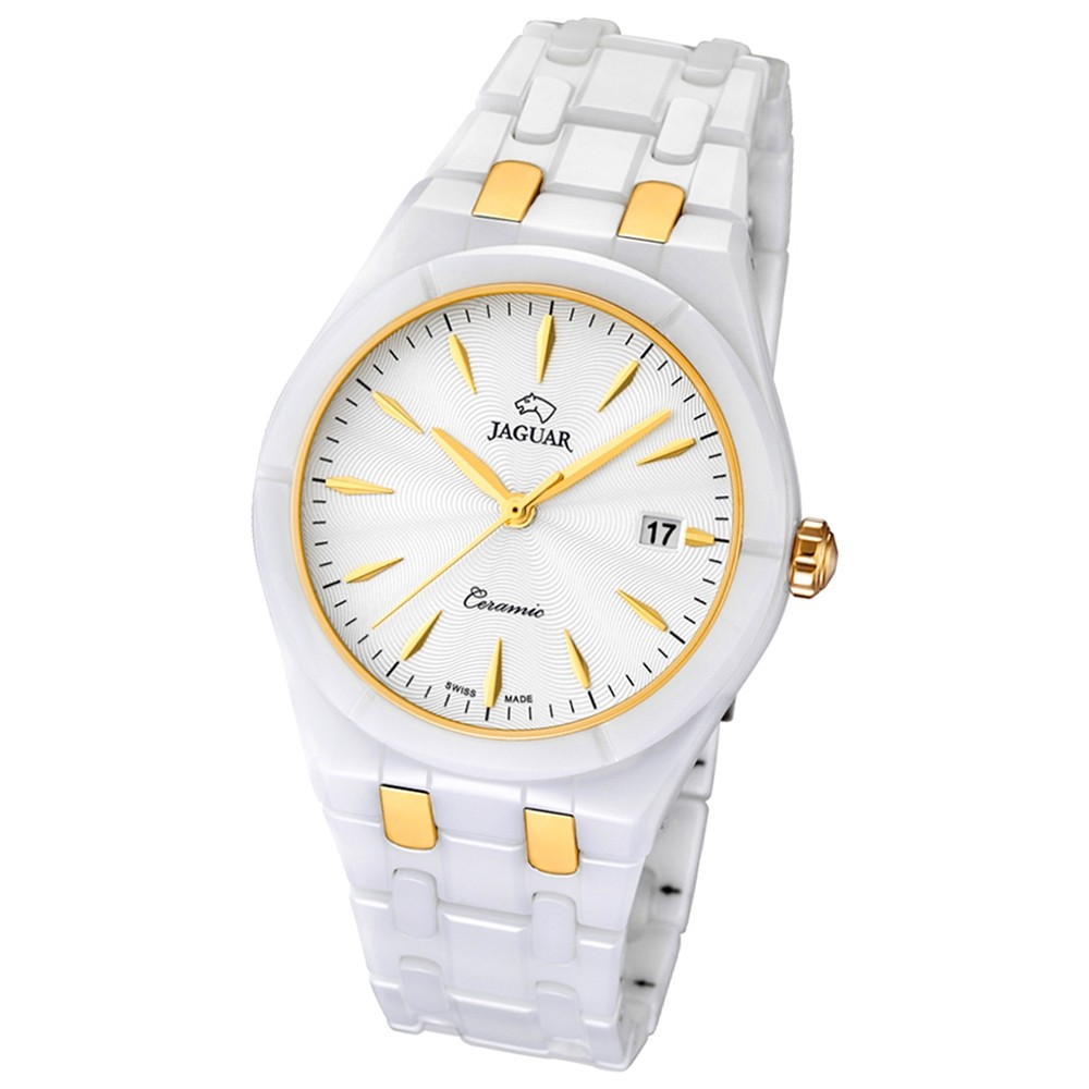 JAGUAR Damen-Armbanduhr Daily Classic Saphirglas Quarz Keramik weiß UJ676/1