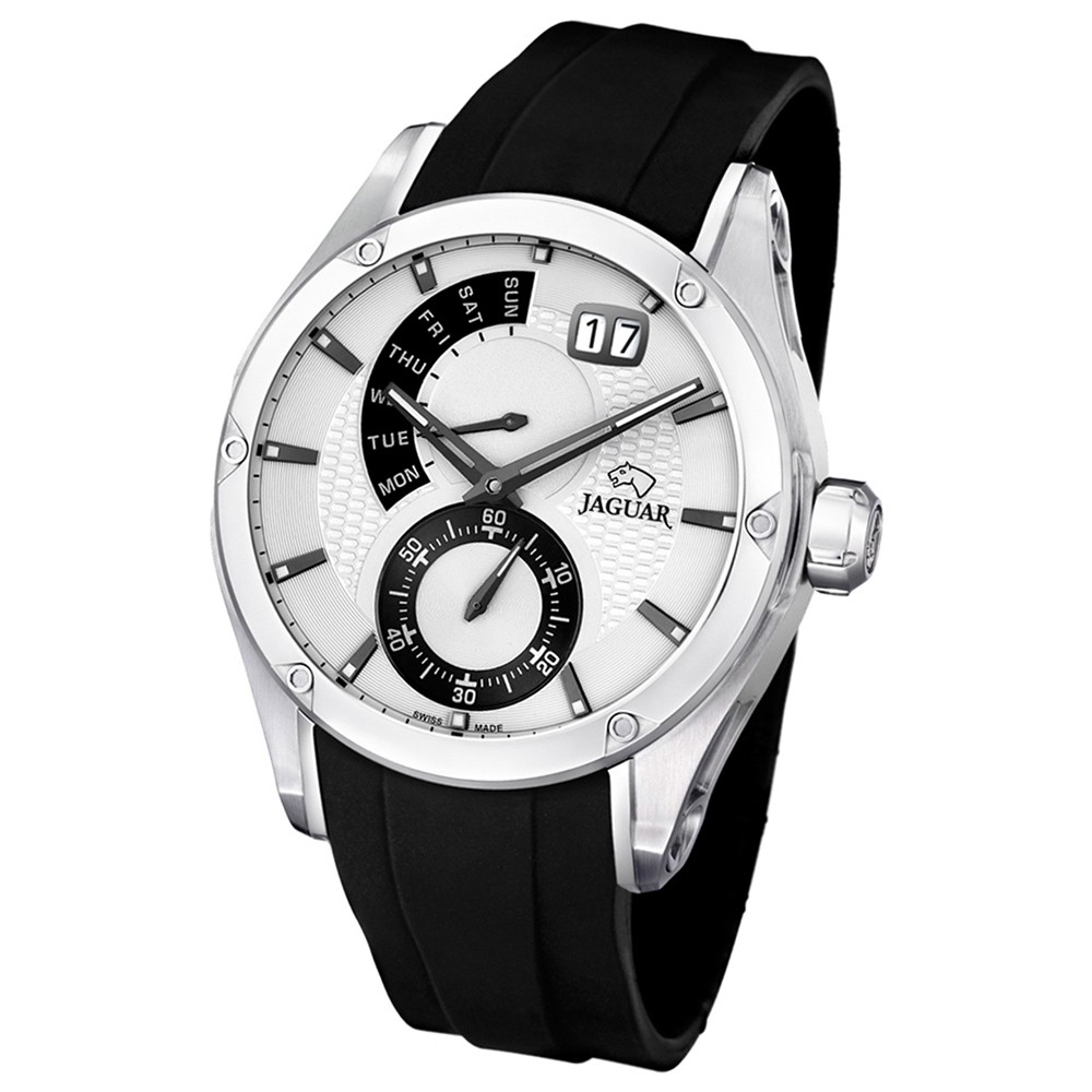 JAGUAR Herren-Armbanduhr Special Edition Saphirglas Quarz PU schwarz UJ678/1