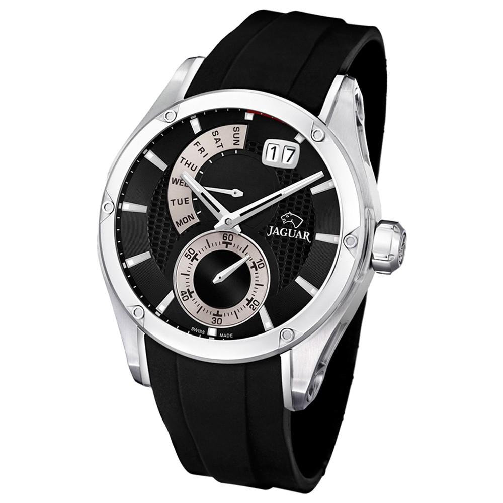 JAGUAR Herren-Armbanduhr Special Edition Saphirglas Quarz PU schwarz UJ678/2