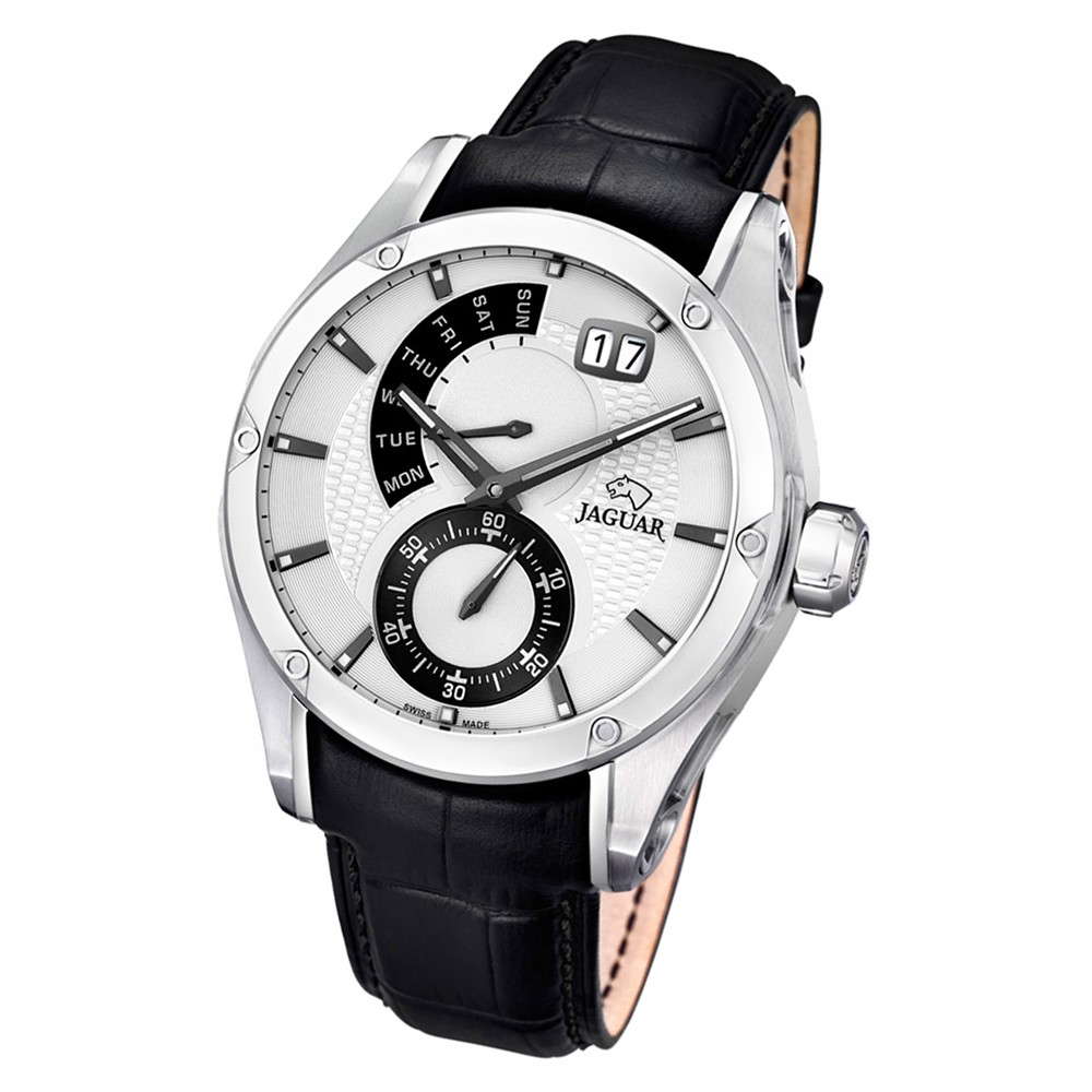 Jaguar Herren-Armbanduhr Leder schwarz J678/A Saphir Special Edition UJ678/A