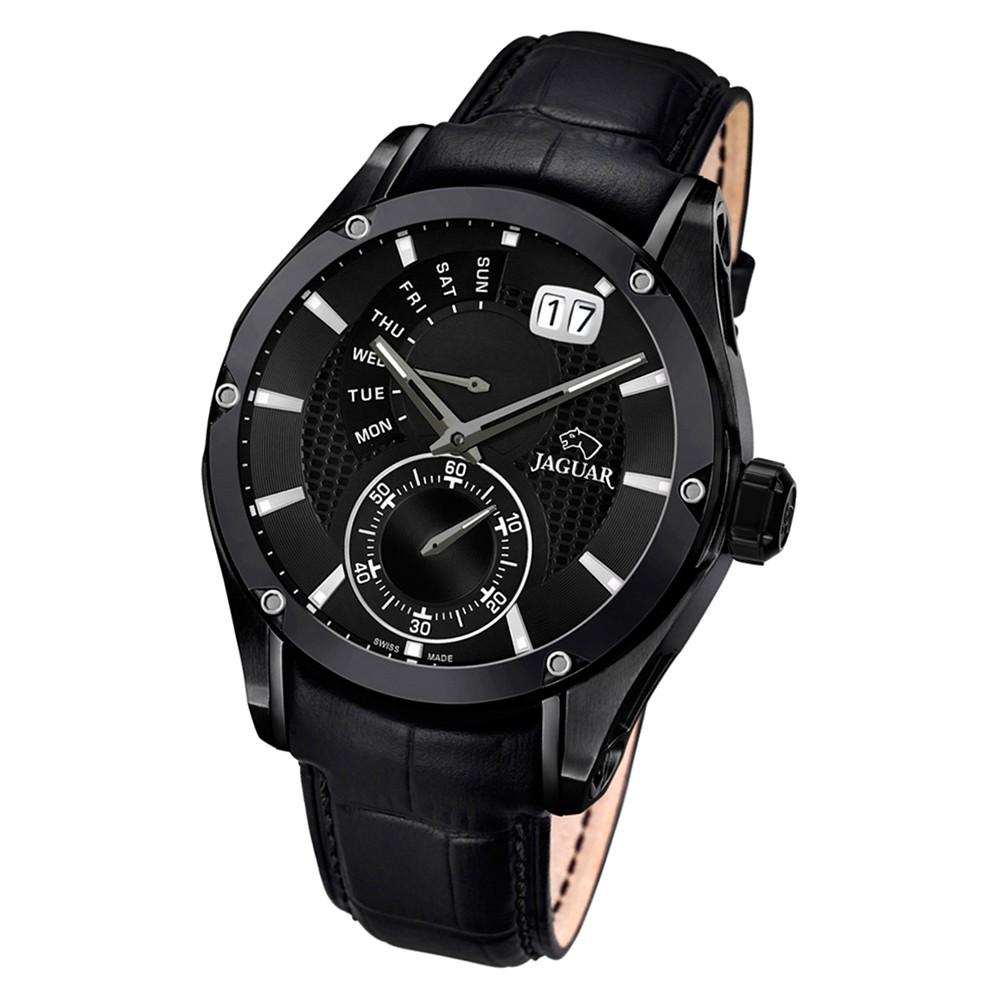 Jaguar Herren-Armbanduhr Leder schwarz J681/A Saphir Special Edition UJ681/A