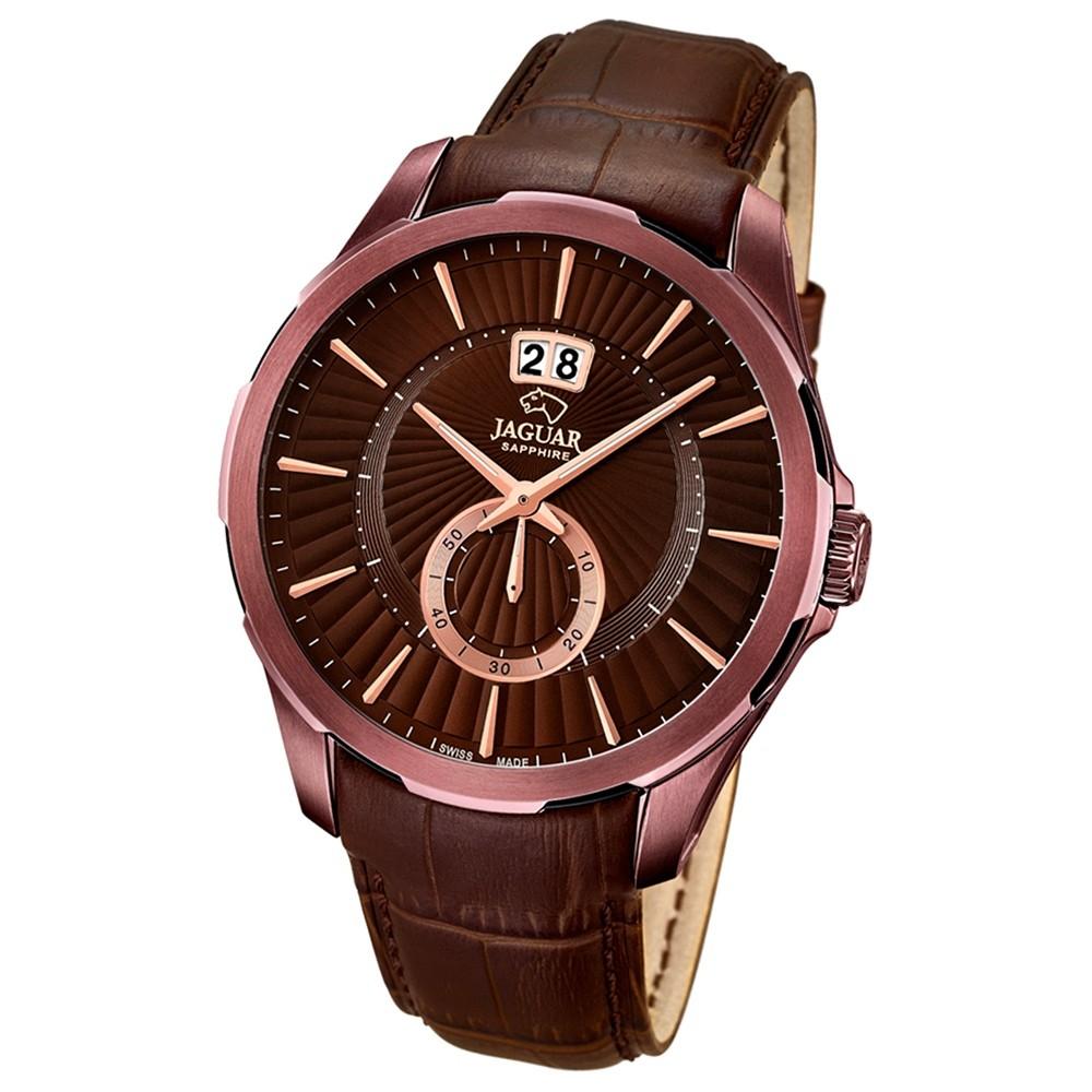 JAGUAR Herren-Armbanduhr ACM Saphirglas Quarz Leder braun UJ684/1