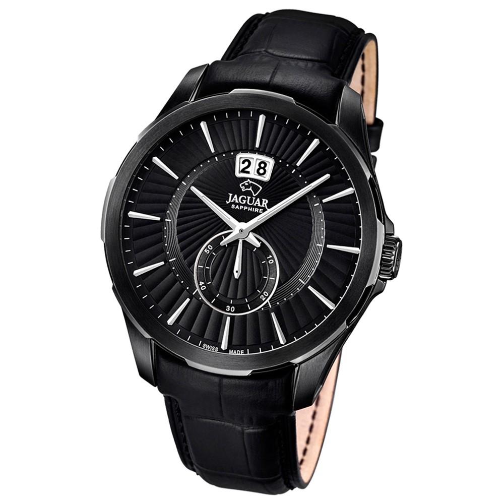 JAGUAR Herren-Armbanduhr ACM Saphirglas Quarz Leder schwarz UJ685/1