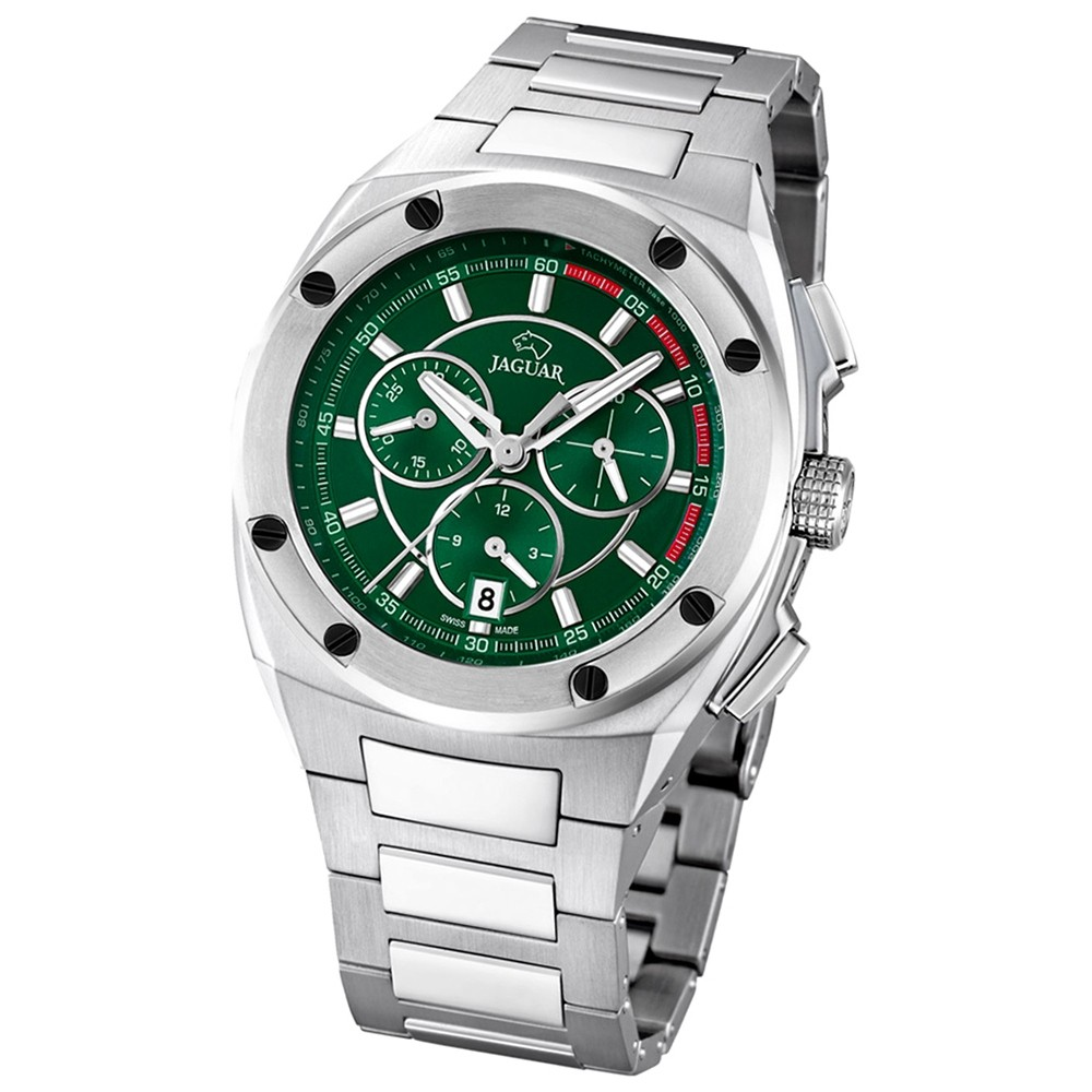 Jaguar Herren-Armbanduhr Executive Saphirglas Quarz Edelstahl silber UJ805/2