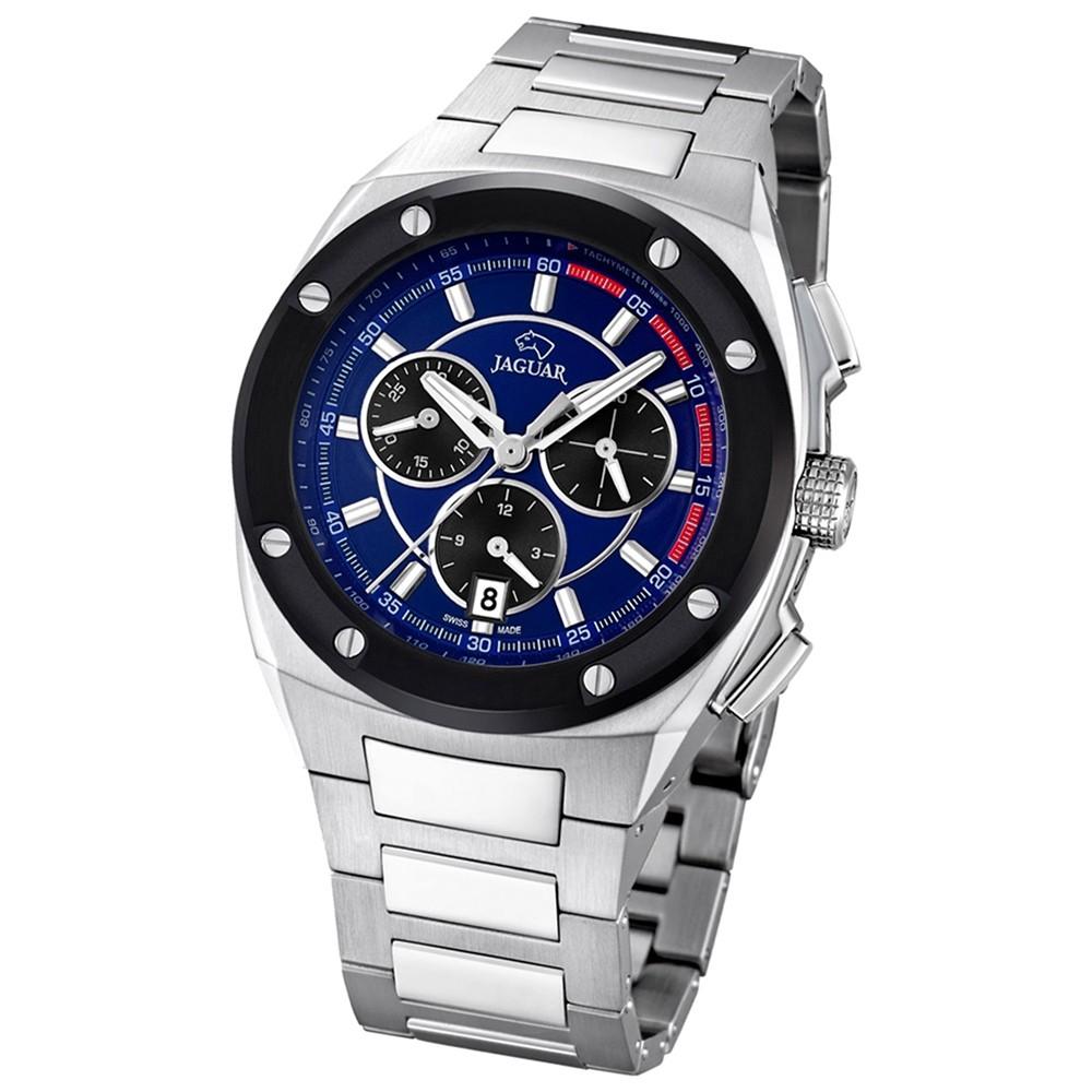 Jaguar Herren-Armbanduhr Executive Saphirglas Quarz Edelstahl silber UJ807/3
