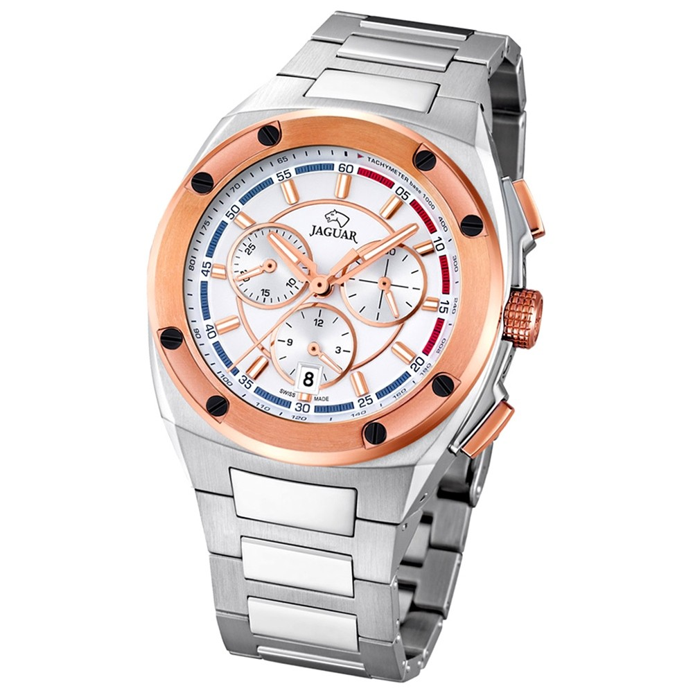 Jaguar Herren-Armbanduhr Executive Saphirglas Quarz Edelstahl silber UJ808/1