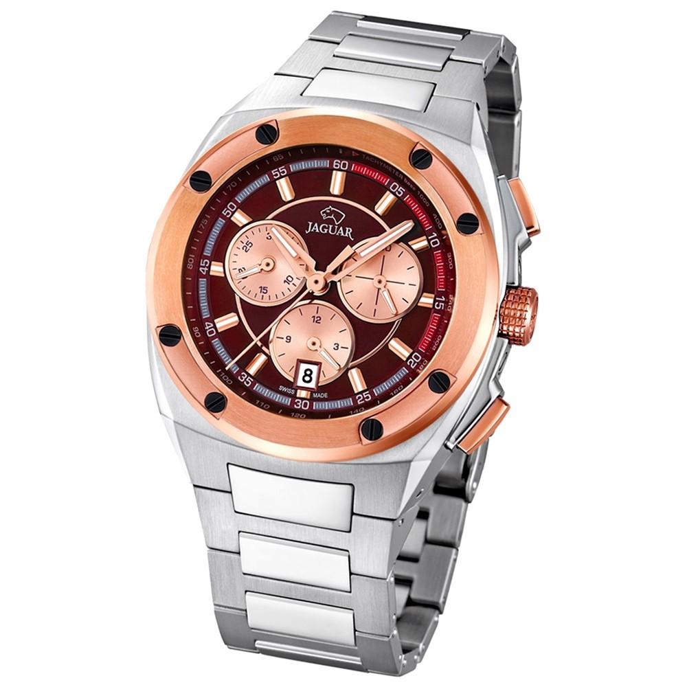 Jaguar Herren-Armbanduhr Executive Saphirglas Quarz Edelstahl silber UJ808/2