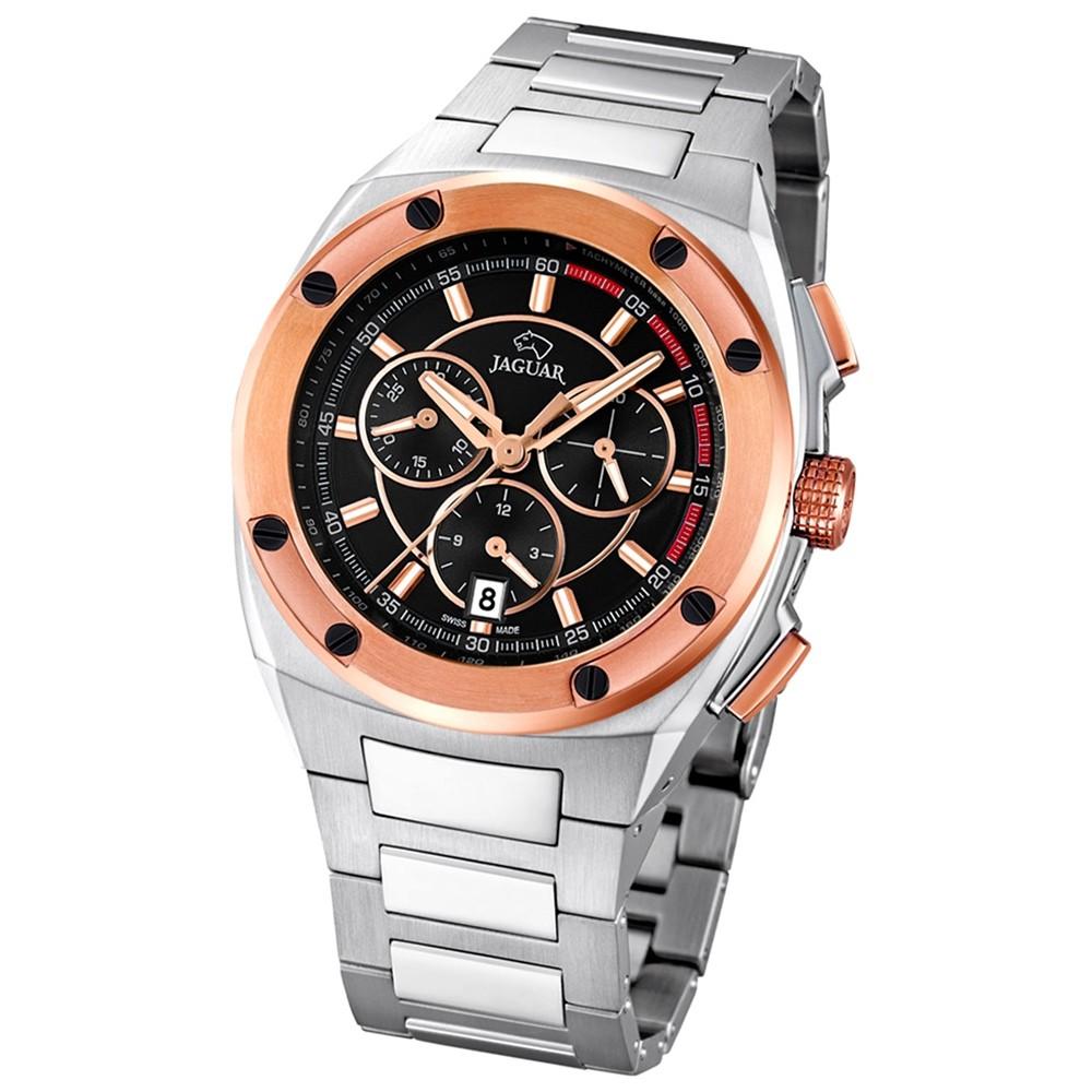 Jaguar Herren-Armbanduhr Executive Saphirglas Quarz Edelstahl silber UJ808/4