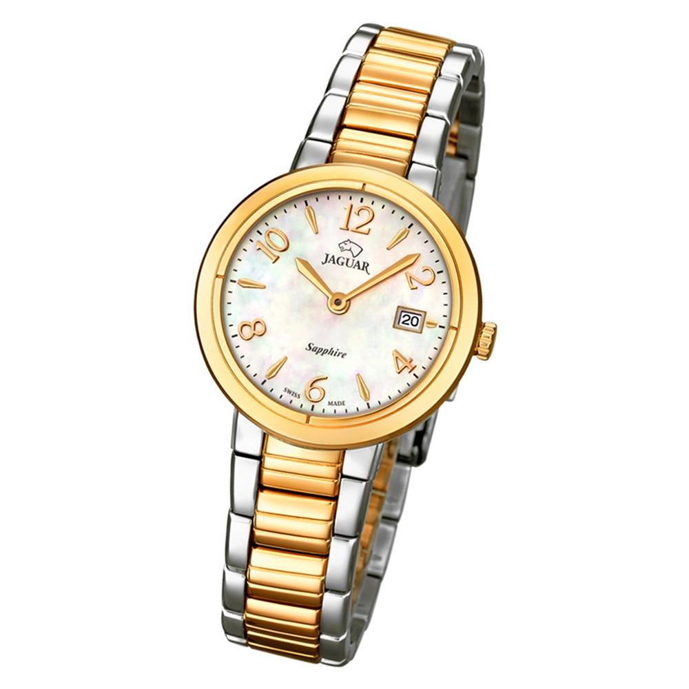 Jaguar Damenuhr Edelstahl silber gold J824/1 Saphirglas Cosmopolitan UJ824/1