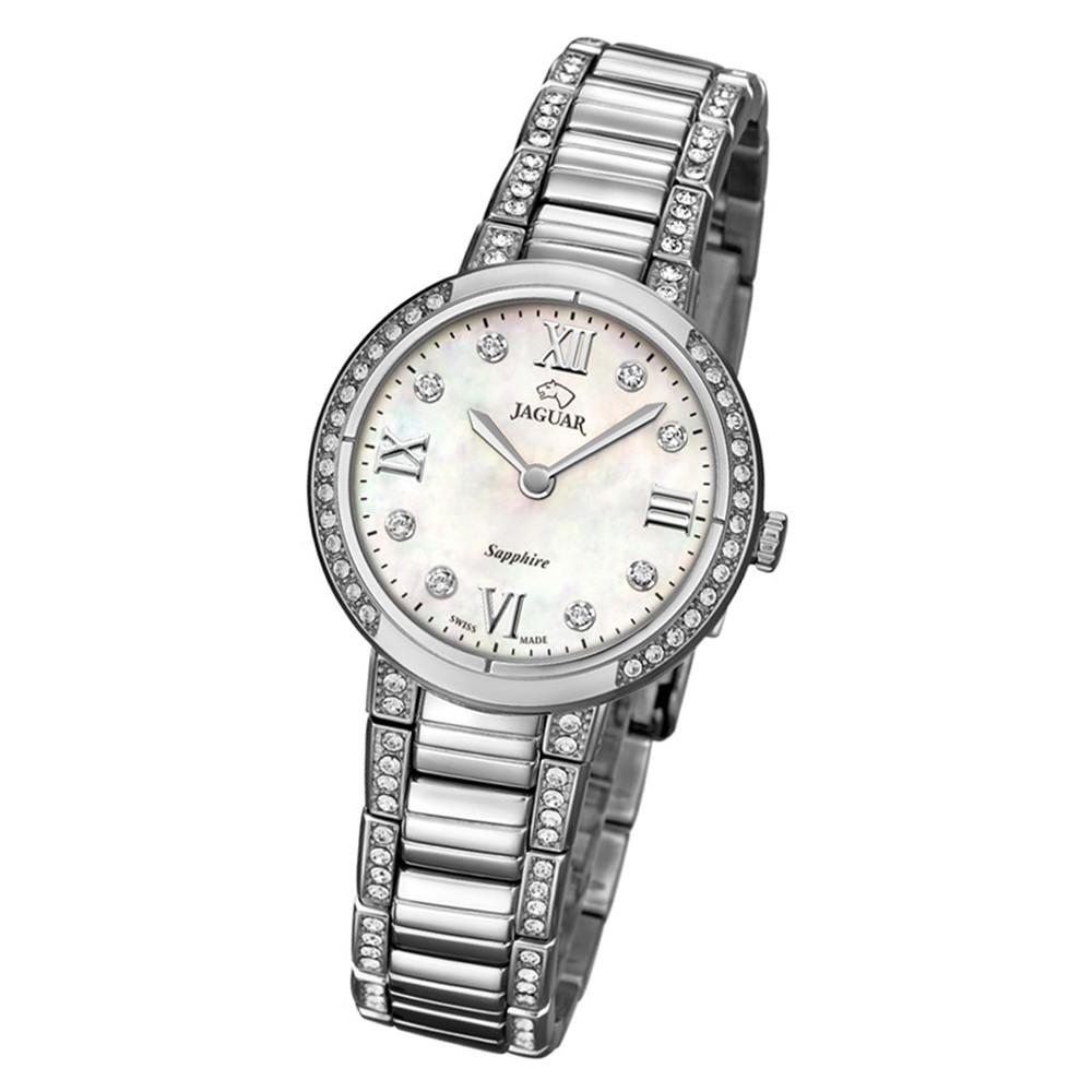 Jaguar Damen-Armbanduhr Edelstahl silber J826/1 Saphir Cosmopolitan UJ826/1