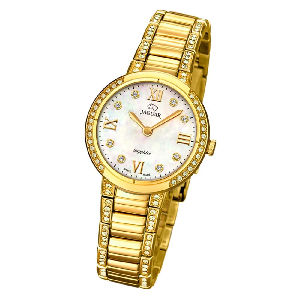 Jaguar Damen-Armbanduhr Edelstahl gold J827/1 Saphir Cosmopolitan UJ827/1