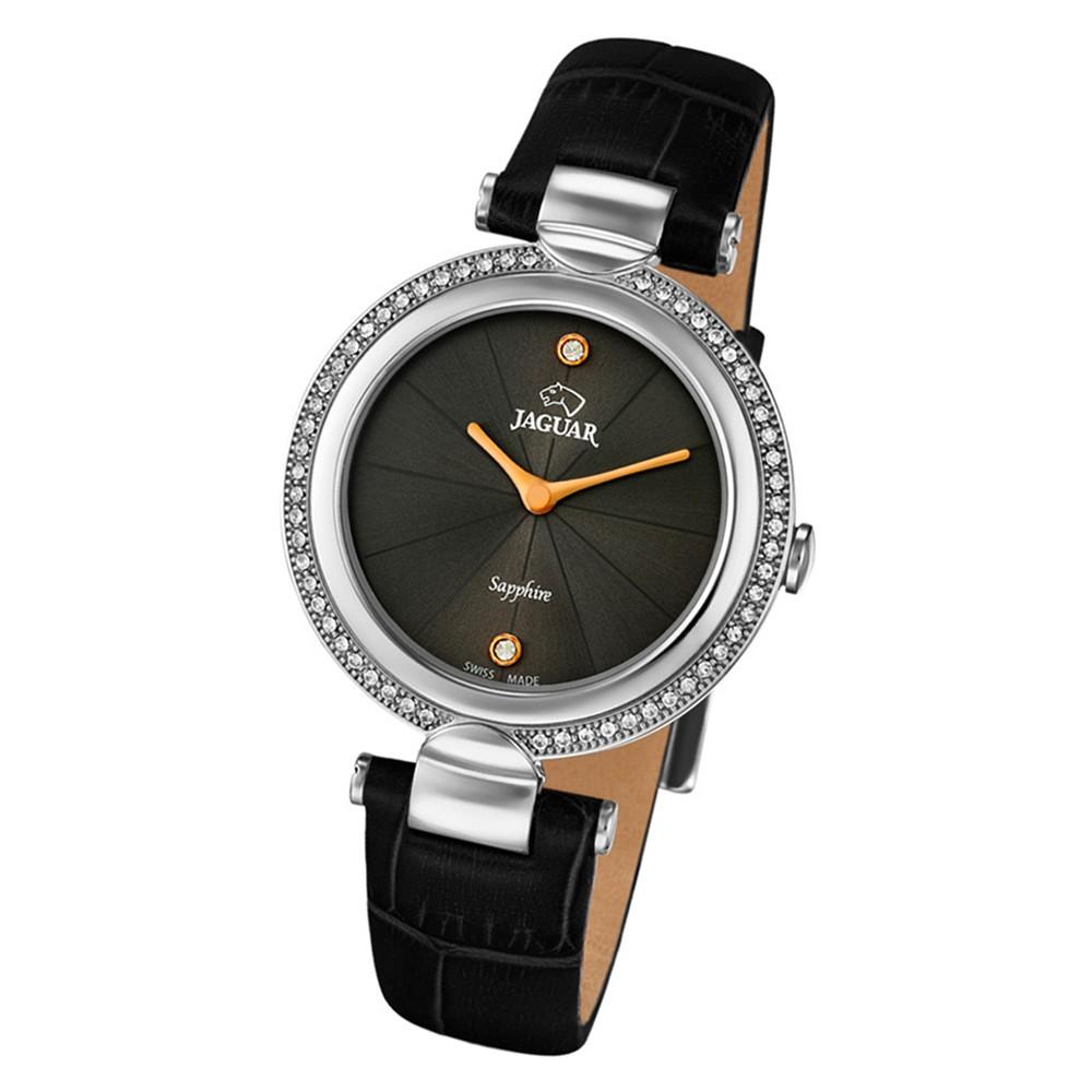 Jaguar Damen-Armbanduhr Leder schwarz J832/2 Saphir Cosmopolitan UJ832/2