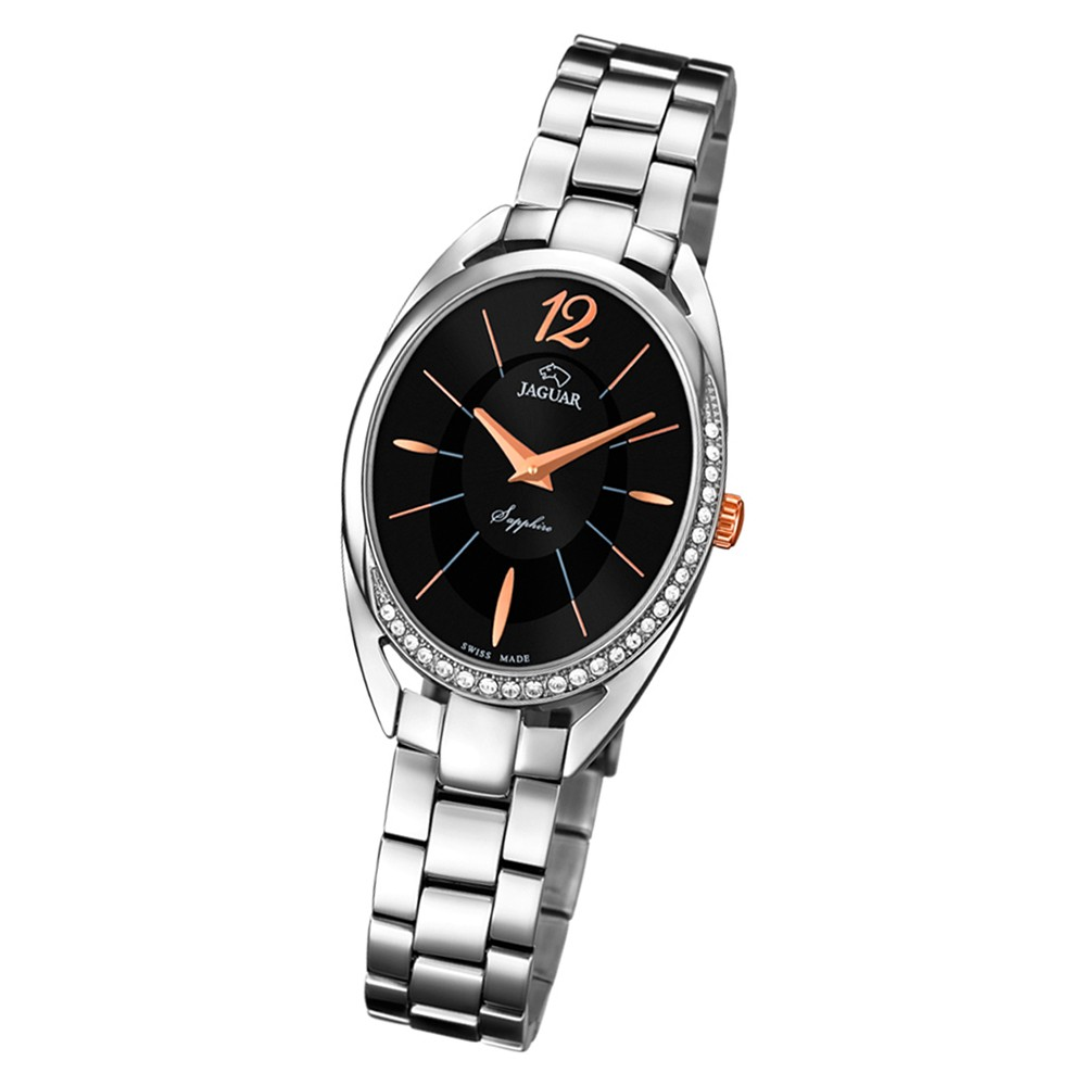 Jaguar Damen-Armbanduhr Edelstahl silber J834/2 Saphir Cosmopolitan UJ834/2