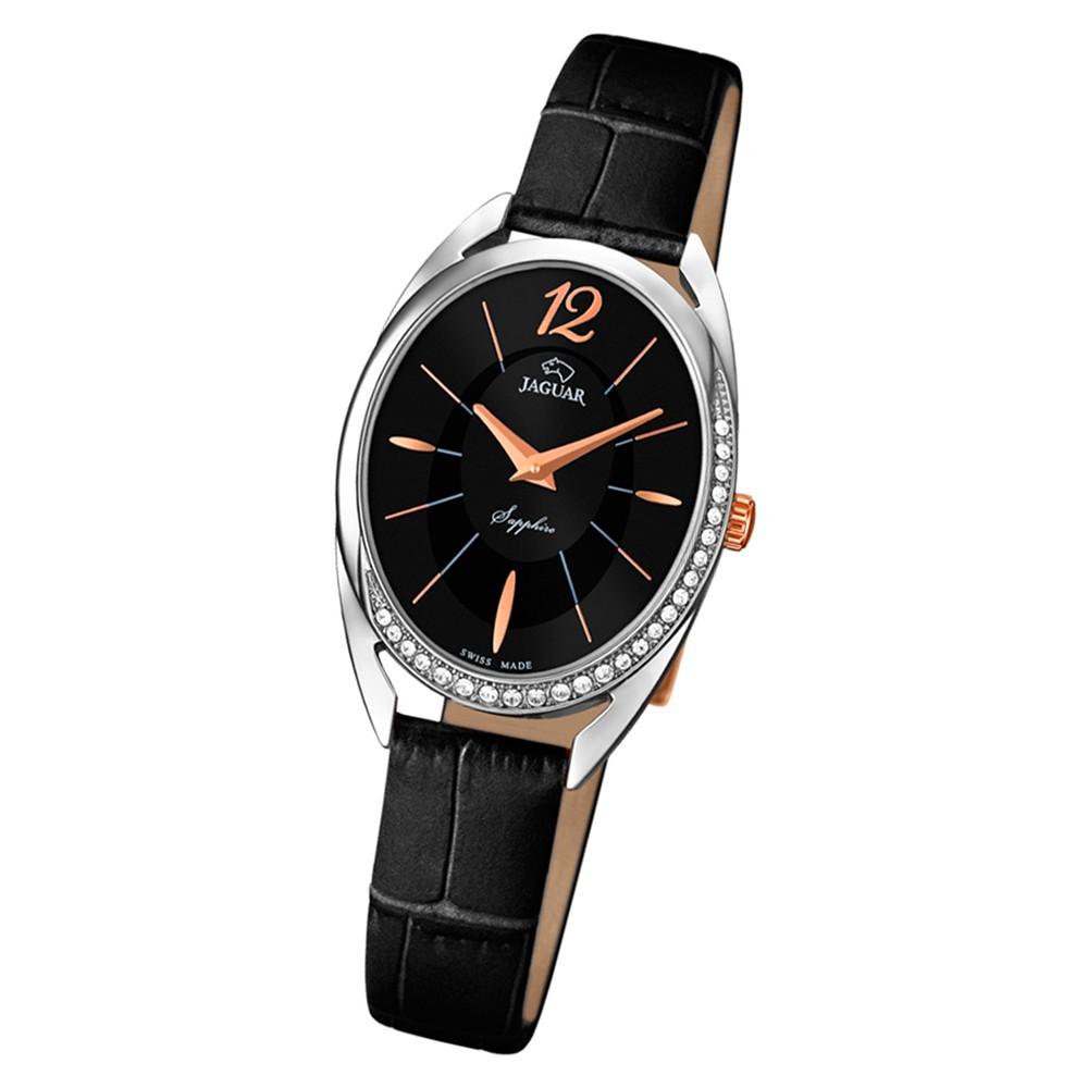 Jaguar Damen-Armbanduhr Leder schwarz J836/2 Saphir Cosmopolitan UJ836/2