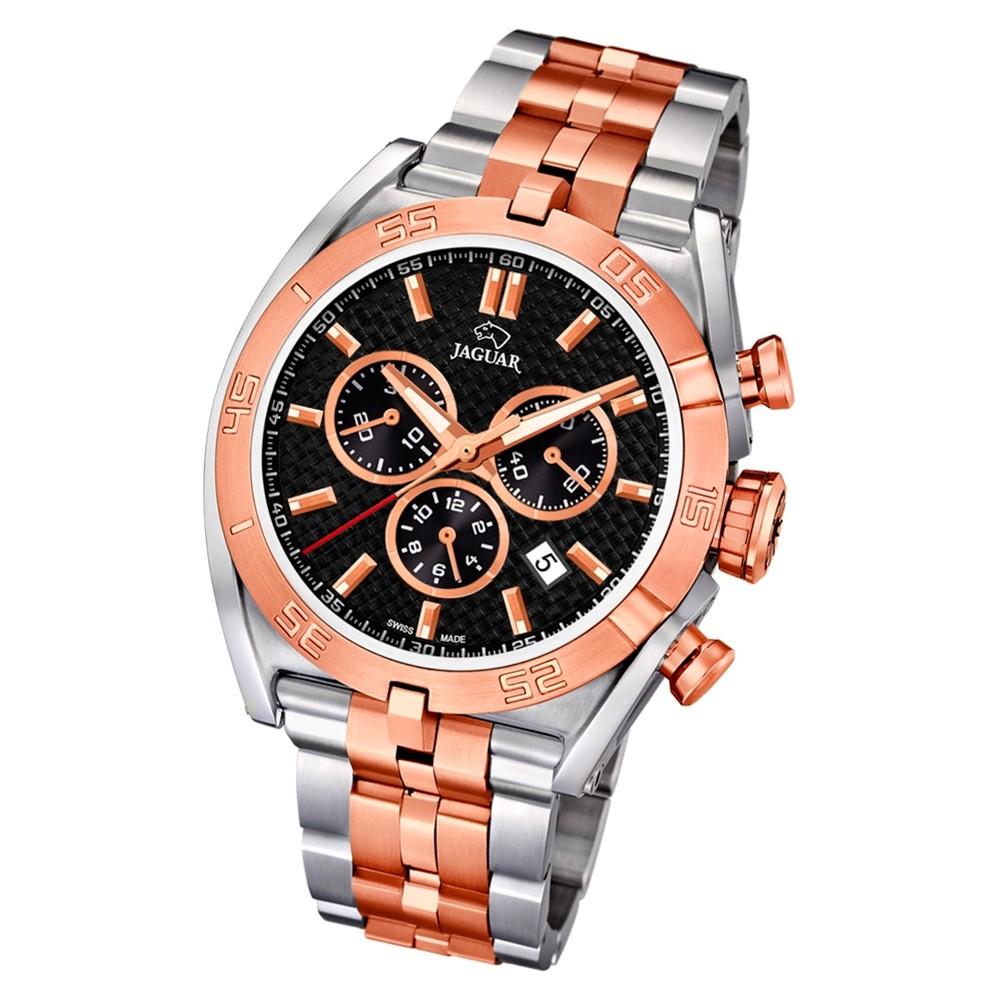 Jaguar Herren-Armbanduhr Edelstahl silber rosé J856/3 Saphir Executive UJ856/3