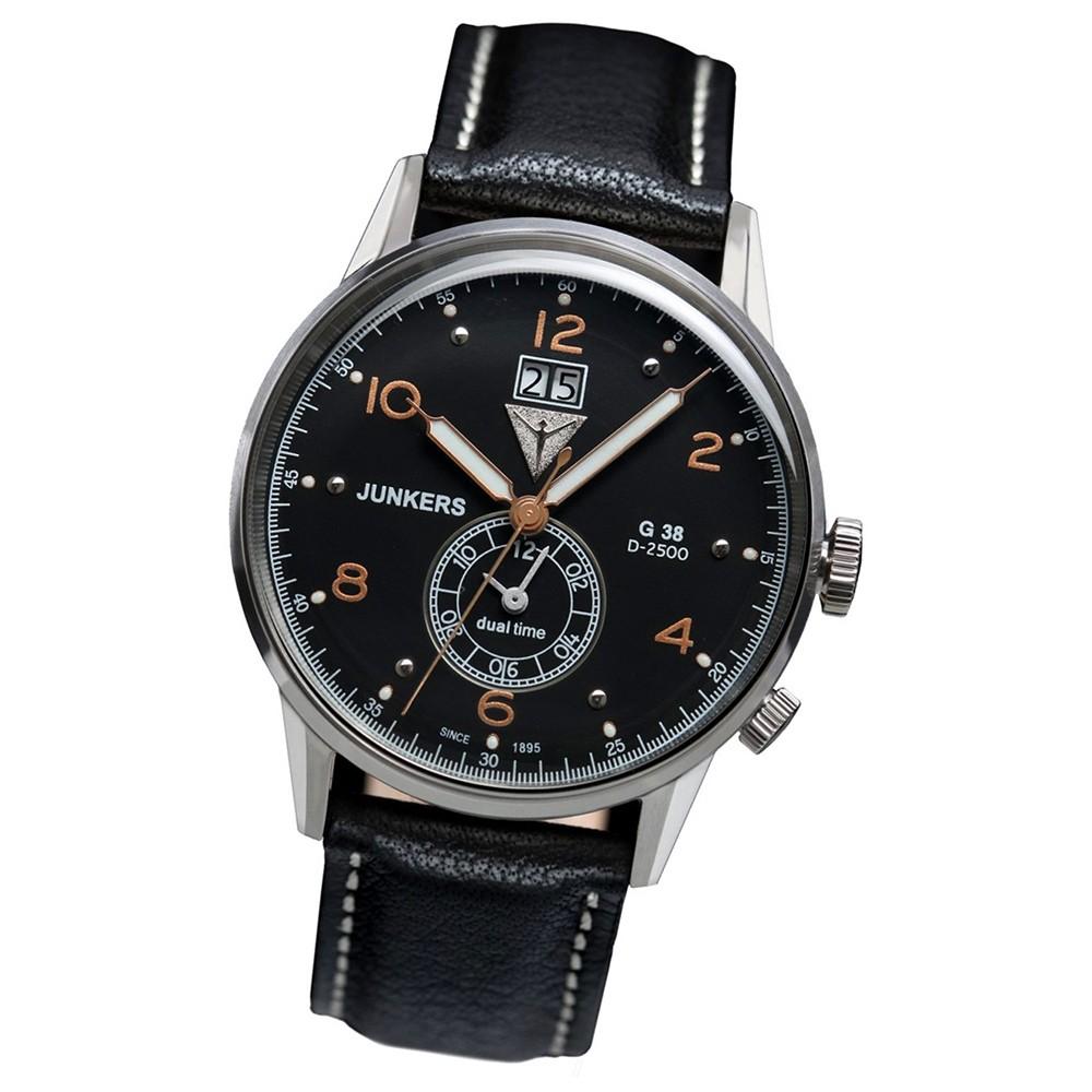 JUNKERS Herren-Uhr Quarzuhr Inspiration G38 6940-5 Leder-Armbanduhr UJU6940/5