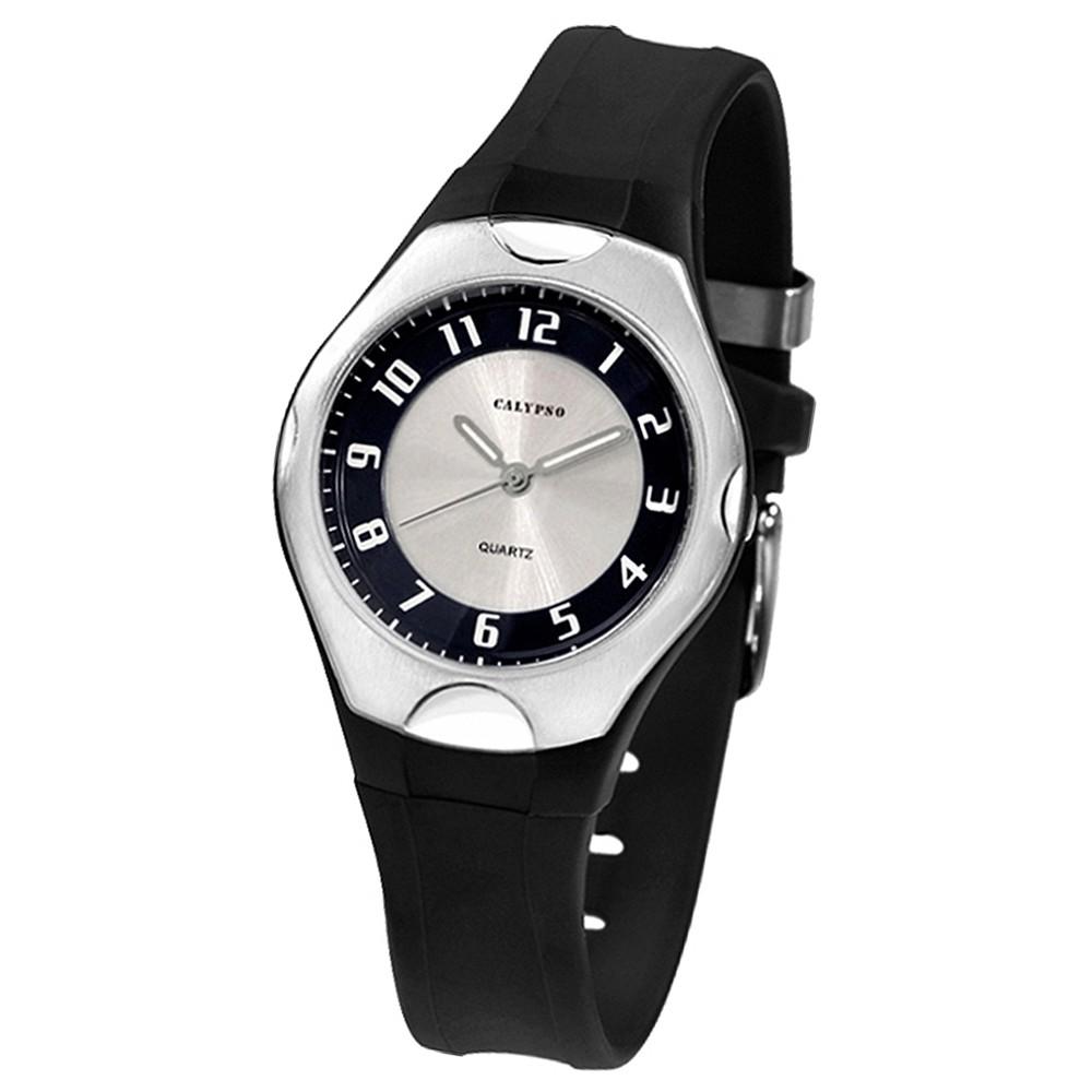 CALYPSO Damen-Armbanduhr Elegant analog Quarz-Uhr PU schwarz UK5162/3